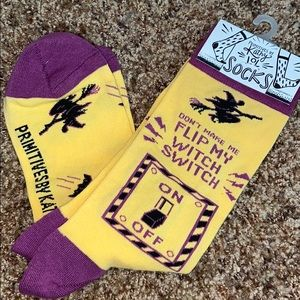 Primitives by Kathy Socks NWT Witch